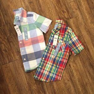 2 NWT Boys 4T Gap Shirts